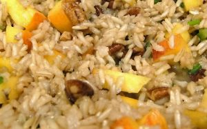 Spicy Peach Pecan Tea Rice